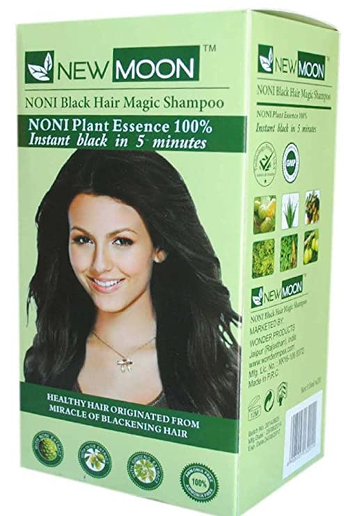 Buy New Moon Noni Hair Dying Shampoo For Men Women Instant 5