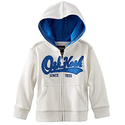 OshKosh B'gosh Toddler/Little Boys Heritage Hoodie (5, White)