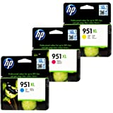 Genuine HP CR318BN 951XL Combo 3-Color- 1 Cyan XL/ 1 Magenta XL/1 Yellow XL