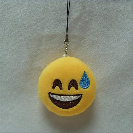 LMYXY Lindo llavero Moda Lindo Emoji Emoticon Cara Sonriente ...