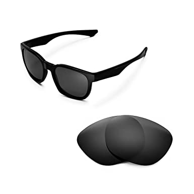 6822b492ba Walleva Replacement Lenses for Oakley Garage Rock Sunglasses - Multiple  Options (Black - Polarized)