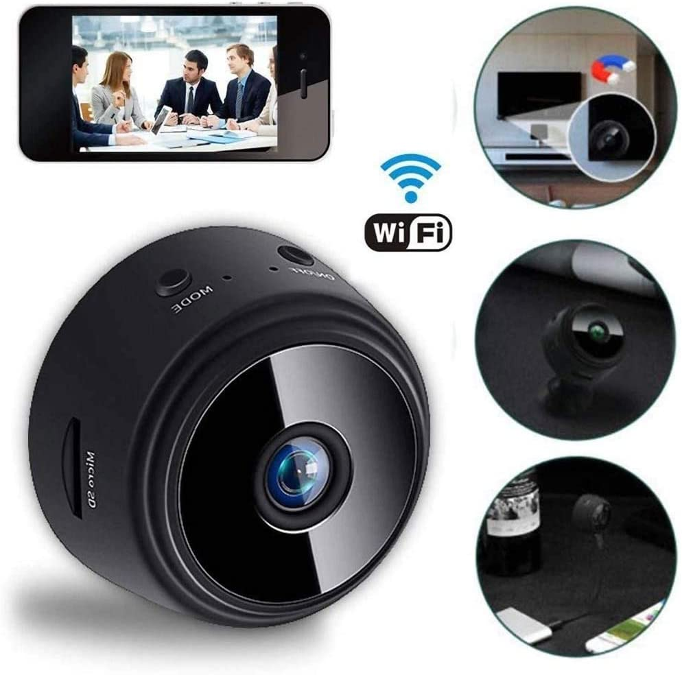 Wireless WiFi Camera with SENSORI Night Vision 1080P Negro