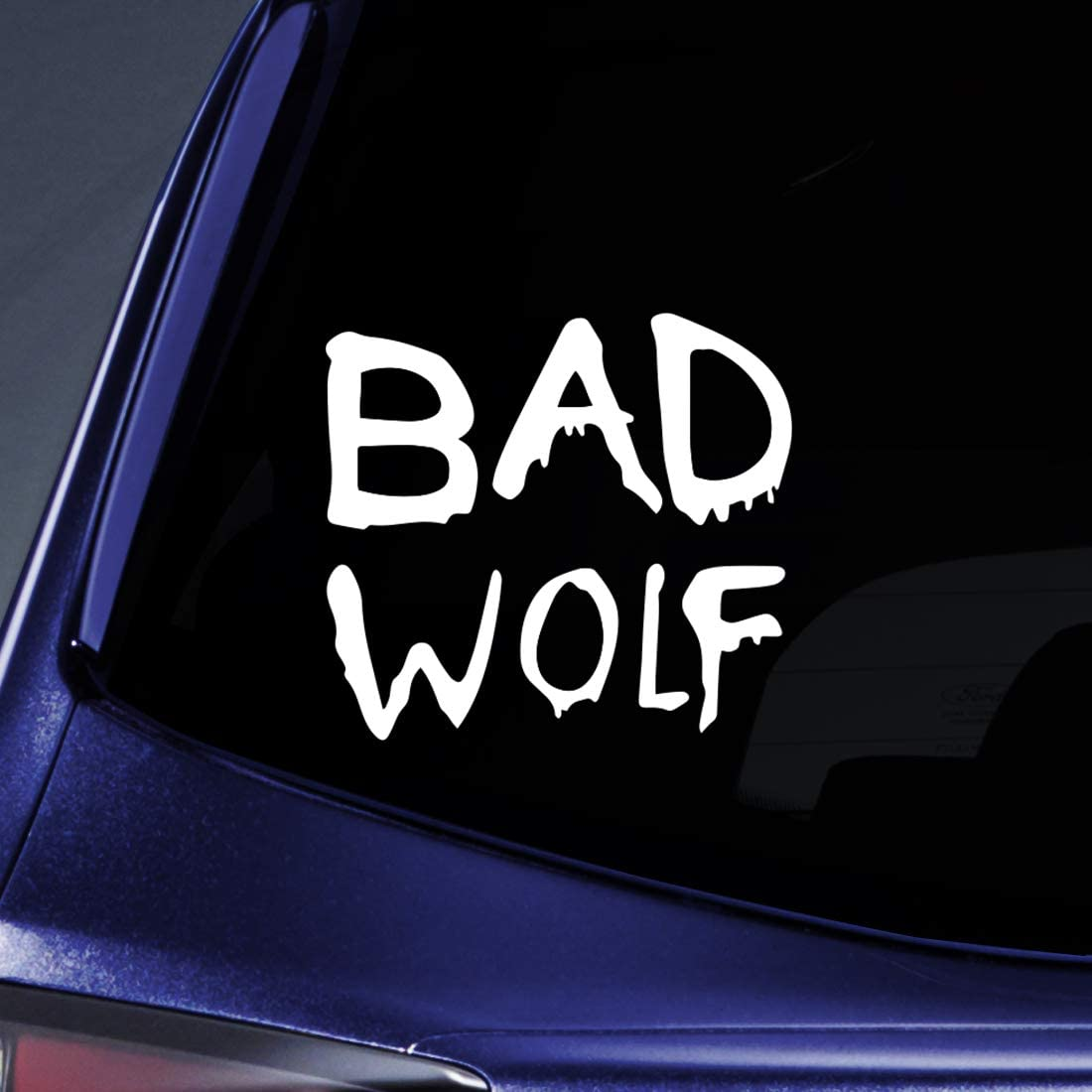 "Bargain Max Decals - Bad Wolf Graffiti Sticker Decal Notebook Car Laptop 5"" (White)"