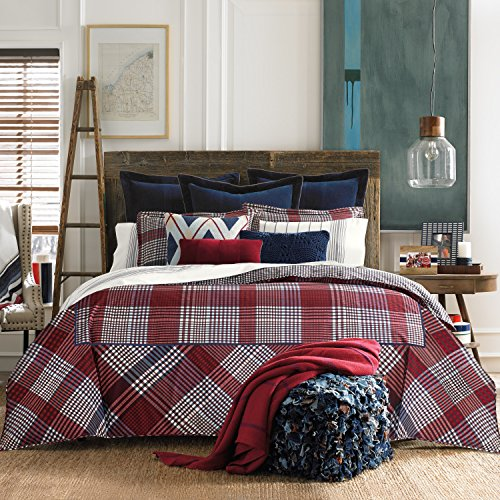 (Tommy Hilfiger Buckaroo Plaid 3-Piece Duvet Set 2 Piece Twin)