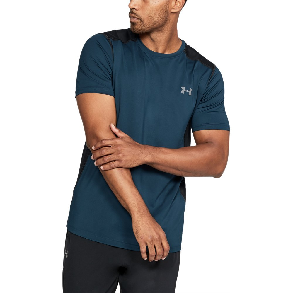 (アンダーアーマー) UNDER ARMOUR ヒットヒートギアSS(トレーニング/Tシャツ/MEN)[1257466] B075996FF7 XX-Large|True Ink/Steel True Ink/Steel XX-Large