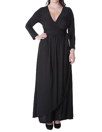 Amazon Suejoe Womens Plus Size Dress 34 Sleeve Deep V Neck