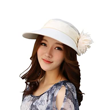 SHINA 2016 Fashion Summer Hats women Ladies Casual Cotton Brimmed Hats  Beach Sun Hat UPF 50+ Sun Protective ( Beige)  Amazon.co.uk  Clothing 767a22994c7