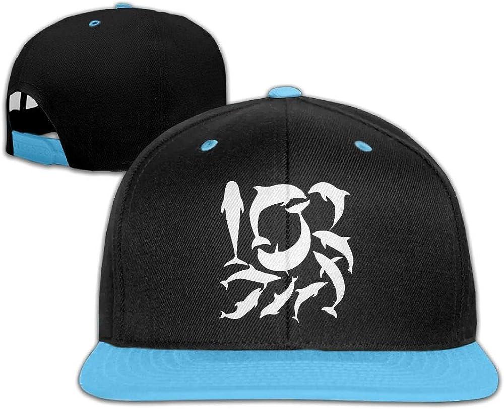 Kids Girls Dolphin Silhouette Baseball Cap Trucker Flatbrim Cap