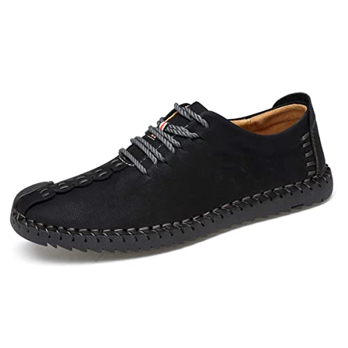 72ed20af9d TUCSSON Men's Handmade Suede Leather Oxford Shoes British Style Flats  Lace-up Loafers Casual Sneakers
