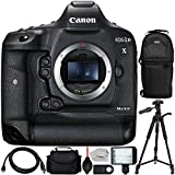 Canon EOS-1D X Mark II DSLR Camera (Body Only) - International Version (No Warranty) & Ultimaxx Professional 160 LED Video Light & Ultimaxx Full-Size 72 Tripod & Ultimaxx Sling Backpack & MORE
