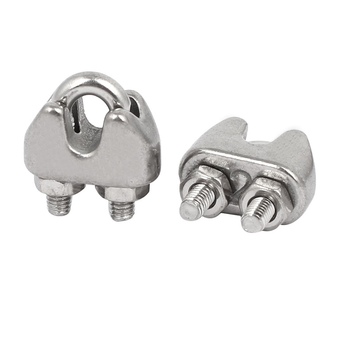 Amazon.com: uxcell M2 1/16 Inch 304 Stainless Steel U-Shape Bolt ...