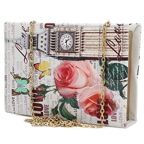 IBELLA Clutch Acrylic Pattern Handbags Purse Marble Women Desiger Perspex for Box Ladies BxrwBg