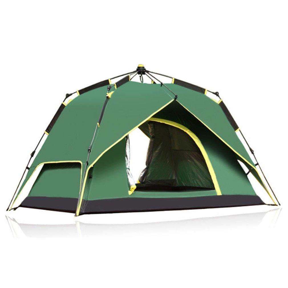 HXSS Wasserdicht Pop-up Automatisch Komfortables Campingzelt für 3 oder 4 Personen mit Aufbewahrungsbeutel