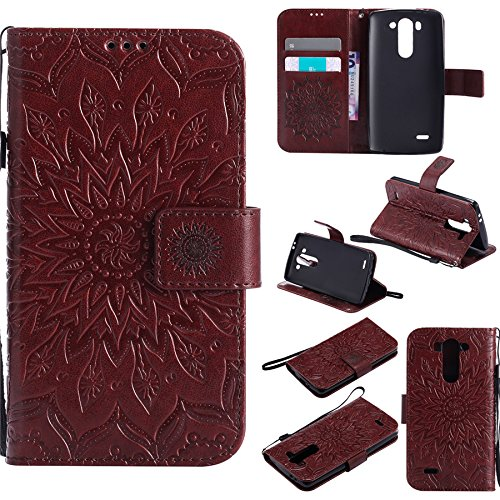LG G3 mini Case, Nutbro LG G3 Beat Flip Case Phone Covers [Stand Feature] Premium Magnetic PU Leather Wallet With Card Slot Folio Flip Case Cover For LG G3 mini/LG G3 Beat/LG G3 Vigor (Lg G3 Beat Best Features)