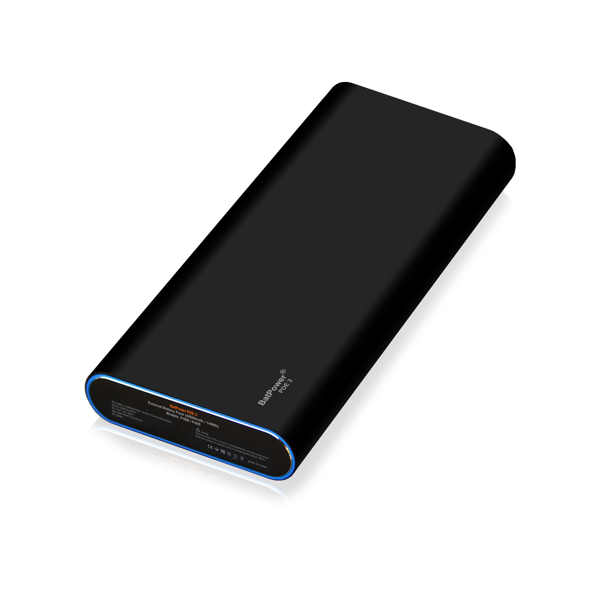 BatPower PDE 2 P40B USB-C Power Bank Portable Charger External Battery for Apple Microsoft HP Lenovo Dell Razer Asus LG Acer MSI Samsung PD USB C laptop notebook tablet smartphone -148Wh by BatPower (Image #8)