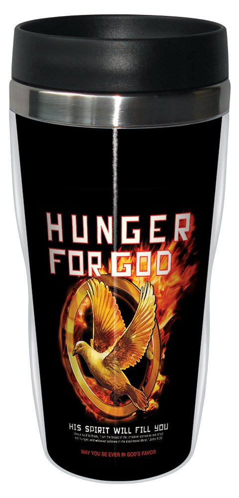 Tree-Free Greetings sg24262 Hunger Games for God 16-Ounce Tree Free John 6:35 Sip N Go Stainless Steel Lined Travel Tumbler
