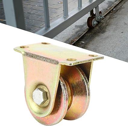 Suchinm Rueda Industrial con Ranura en V, Rueda con Ranura en V 45# Puerta corredera de Acero Rueda Rueda rígida Polea de guía Industrial para Puerta corredera: Amazon.es: Hogar