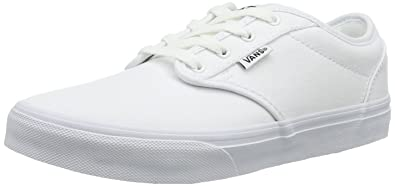0d39dc9389d Vans Atwood white canvas shoes kids youth size sneakers 0UDT7HN (1)