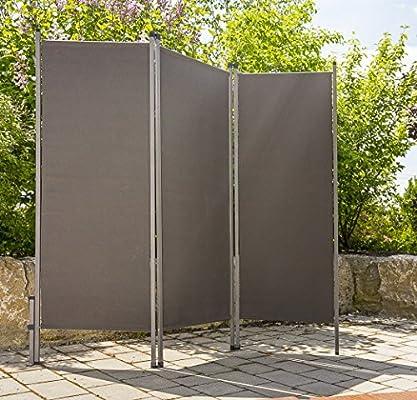Sirve exterior metal/plástico Antracita Mampara paraviento Wind ...