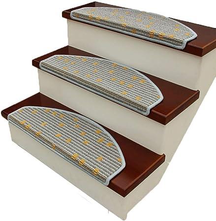 Alfombras de Escalera Peldaños De Escalera Semi-Arco Escaleras Autoadhesivas Antideslizante Escalera Protección del Piso 10MM 2 Colores (Color : B, Size : 5PCS24X65CM): Amazon.es: Hogar