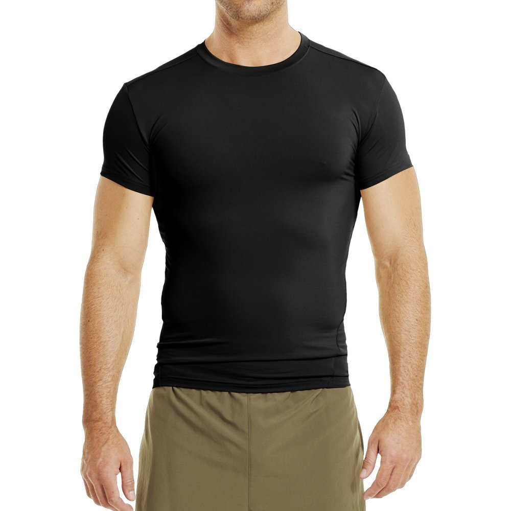 Under Armour Men's UA Tac Heat Gear Compression Tee, Black (001)/Clear, Small