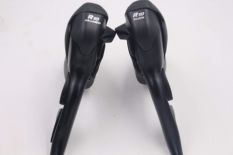 micronewブラックダブル2 x 10 Speed Shiftersロード自転車LeaveブレーキDerailleur互換for Shimano B078NSSLVX