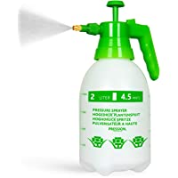 AQUEENLY Pump Sprayer, 68oz Hand Held Pump Pressure Garden Sprayer with Adjustable Nozzle for Lawn & Garden - Watering, Fertilizing, Home Cleaning and Car Washing - The Professional Hand Sprayer