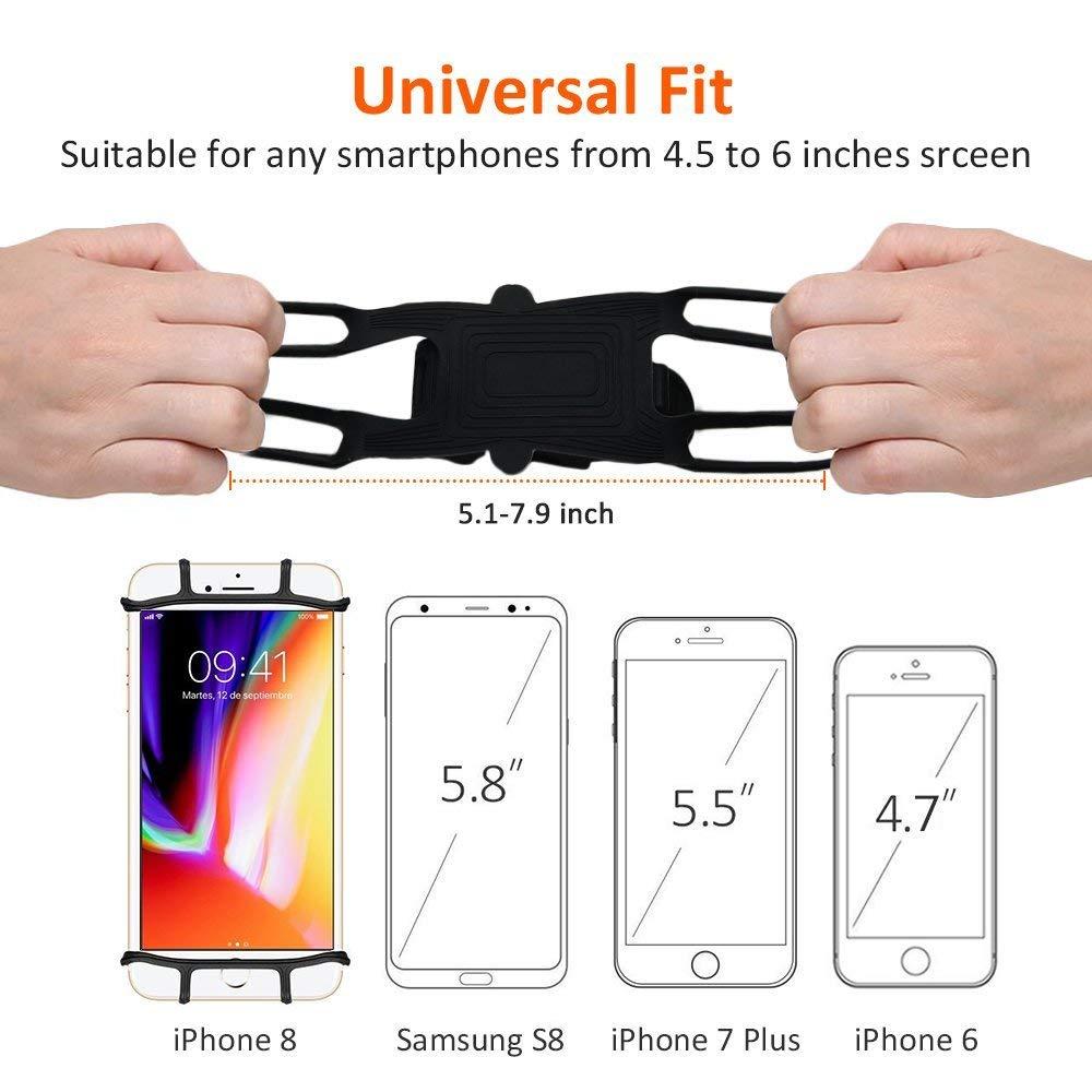 4,5-6,0 Pouces Smartphones Coque en Silicone pour Guidon de V/élo R/églable Support Xrten V/élo Support de T/él/éphone Id/éal pour Route Montagne V/élo Moto