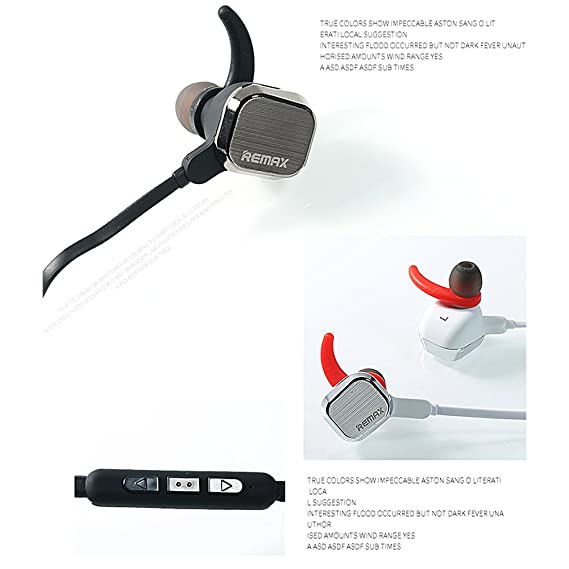 Remax rm-s2 Imán de inalámbrico Bluetooth Deportes auriculares auriculares auriculares, 4,1 manos libres estéreo Crystal Clear Sound música Call (Plata): ...