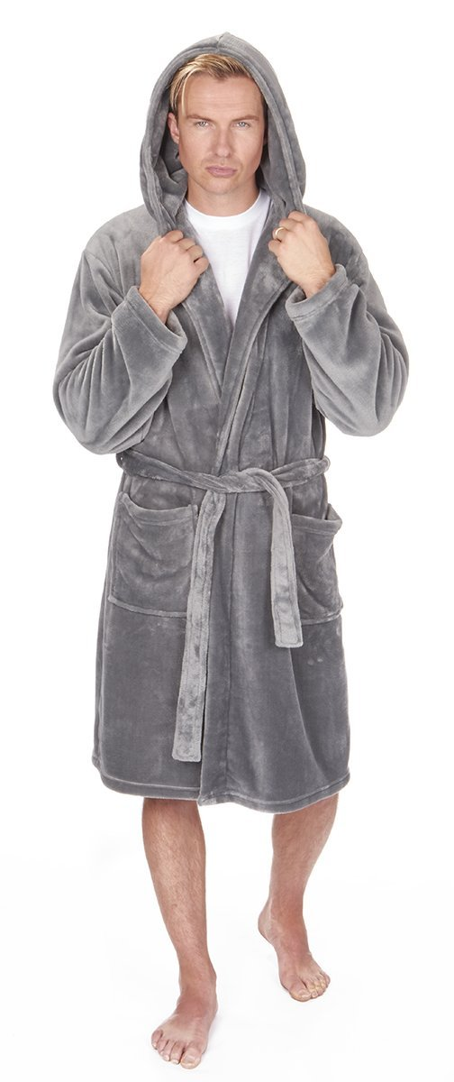 Hooded Dressing Gown: Amazon.co.uk