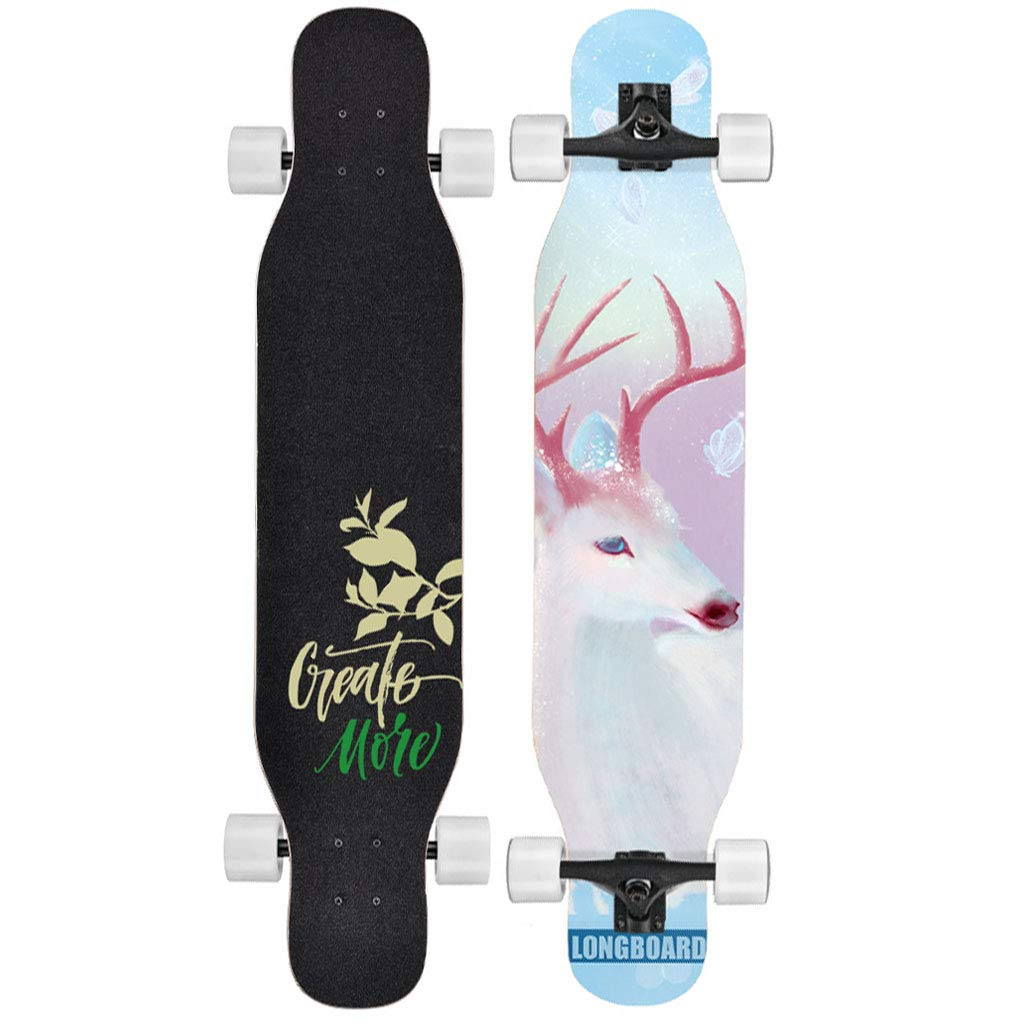 HYE-SPORT Skateboard 47.2 Pulgadas Ca/ída a trav/és de Freestyle Longboards Skateboard Maple Dancing Skateboard High Rebound Ruedas de PU Crucero b/ásico