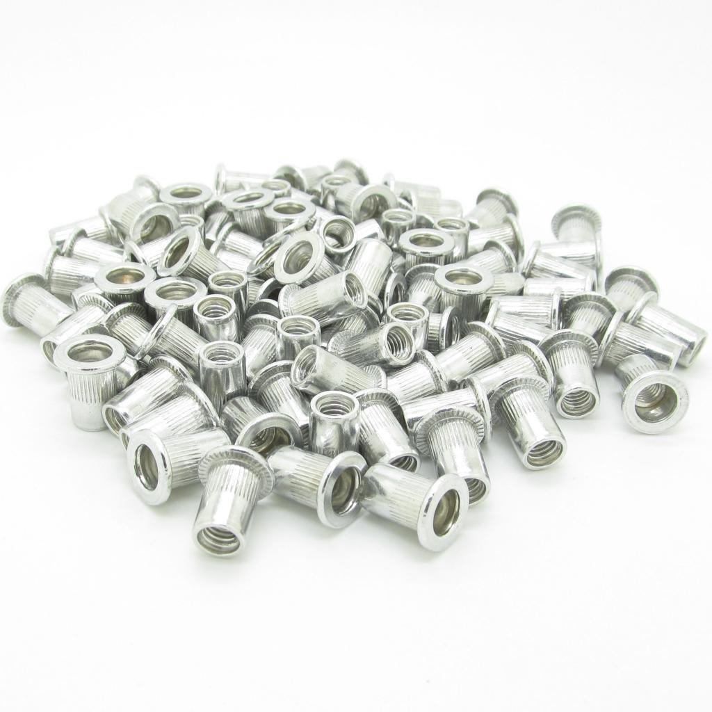 M6 6mm Flat Head Aluminum Rivet Nut Blind Insert Nut Pack Of 100