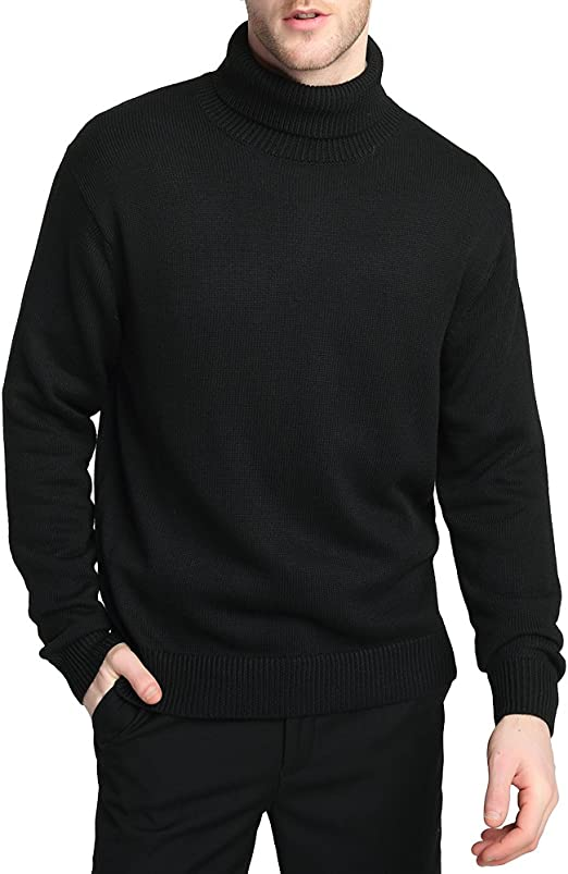 Radofo Men/'s-Turtleneck Slim-Fit Casual-Wool Pullover-Sweaters Warm with Twist Patterned Long Sleeve