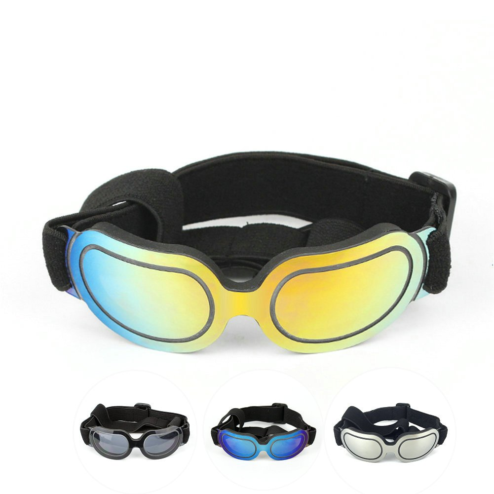 Petvins Doggie Goggles Dog Sunglasses Fashion Pet Eyewear UV Protection Waterproof for Cat Doggy Puppy Small Colorful