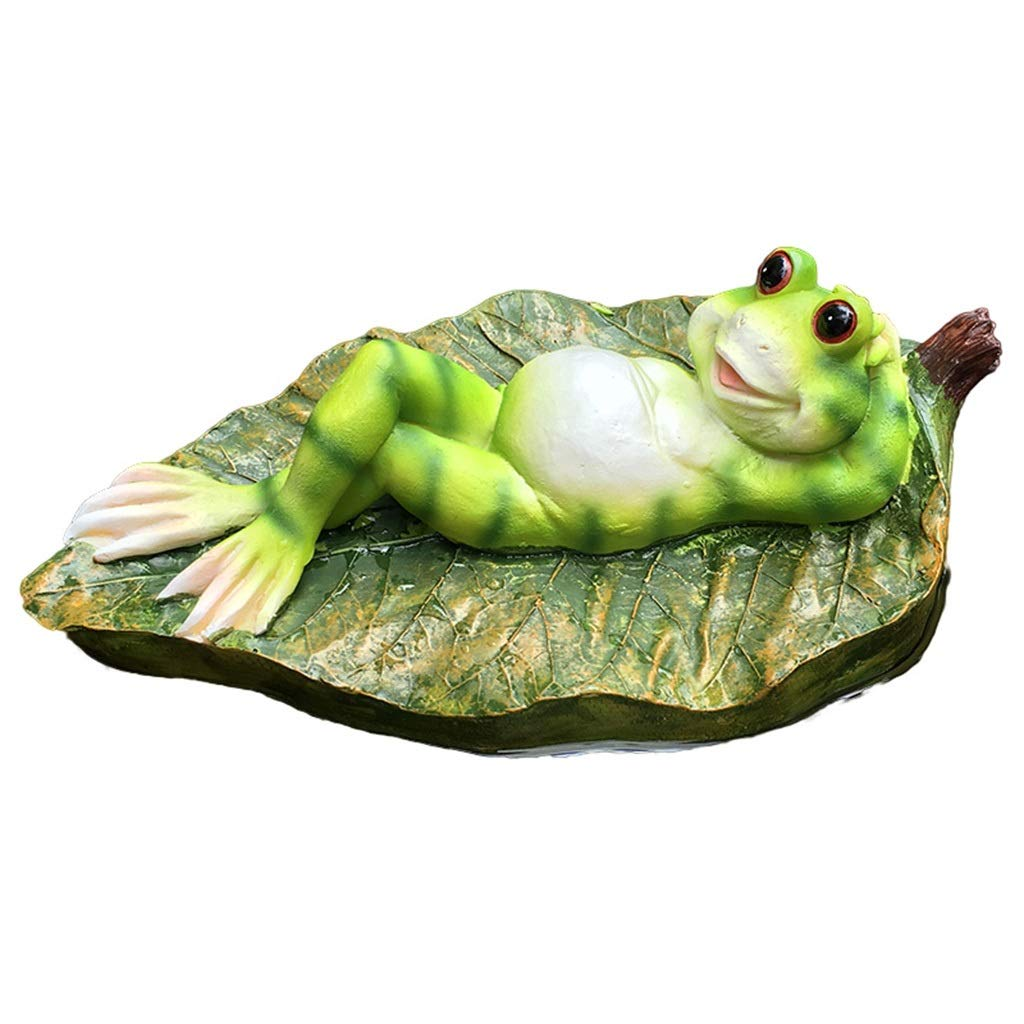 Accessories Garden Decoration Floating Frog Ornaments Fish Pond Decoration Landscaping Fish Tank Water View (Color : Green, Size : 26157cm)