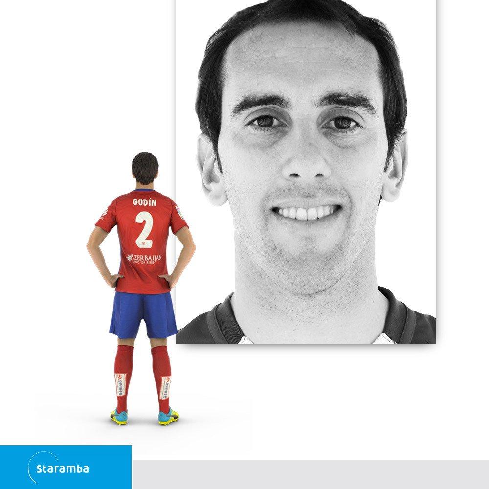 Staramba Diego Godín figura 3D - Atlético de Madrid