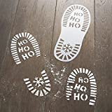 Ginger Ray Father Christmas Santa Eve Foot Print Stencils - Santa and Friends
