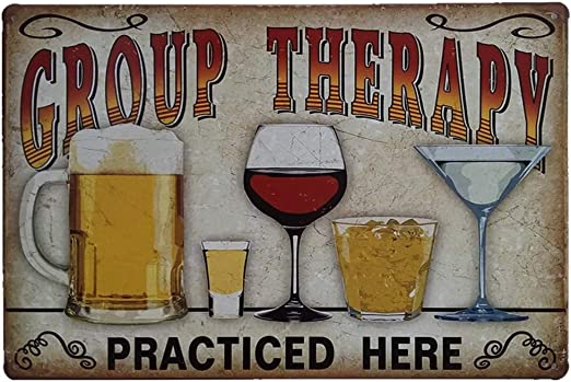 wall hanging decoration plaque Types of Beer bar pub tin metal sign US Seller