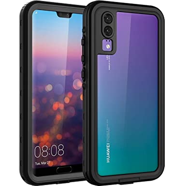 ASAKUKI For HUAWEI P20 case, Full Body Drop Protection P20 Clear Case with  Screen Protector and Kickstand, Shockproof and Waterproof for HUAWEI P20