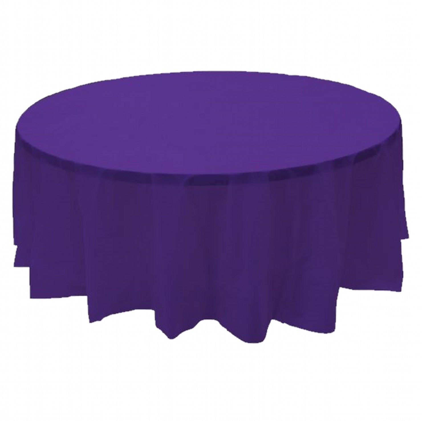 24 pcs (1 case) of Plastic Heavy Duty Premium Round tablecloths 84'' Diameter Table Cover - Purple