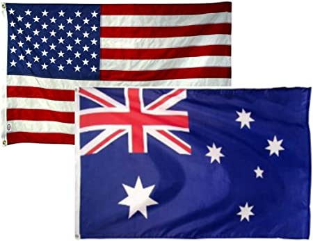 2x3 2/'x3/' Wholesale Combo USA American /& Australia Australian 2 Flags Flag