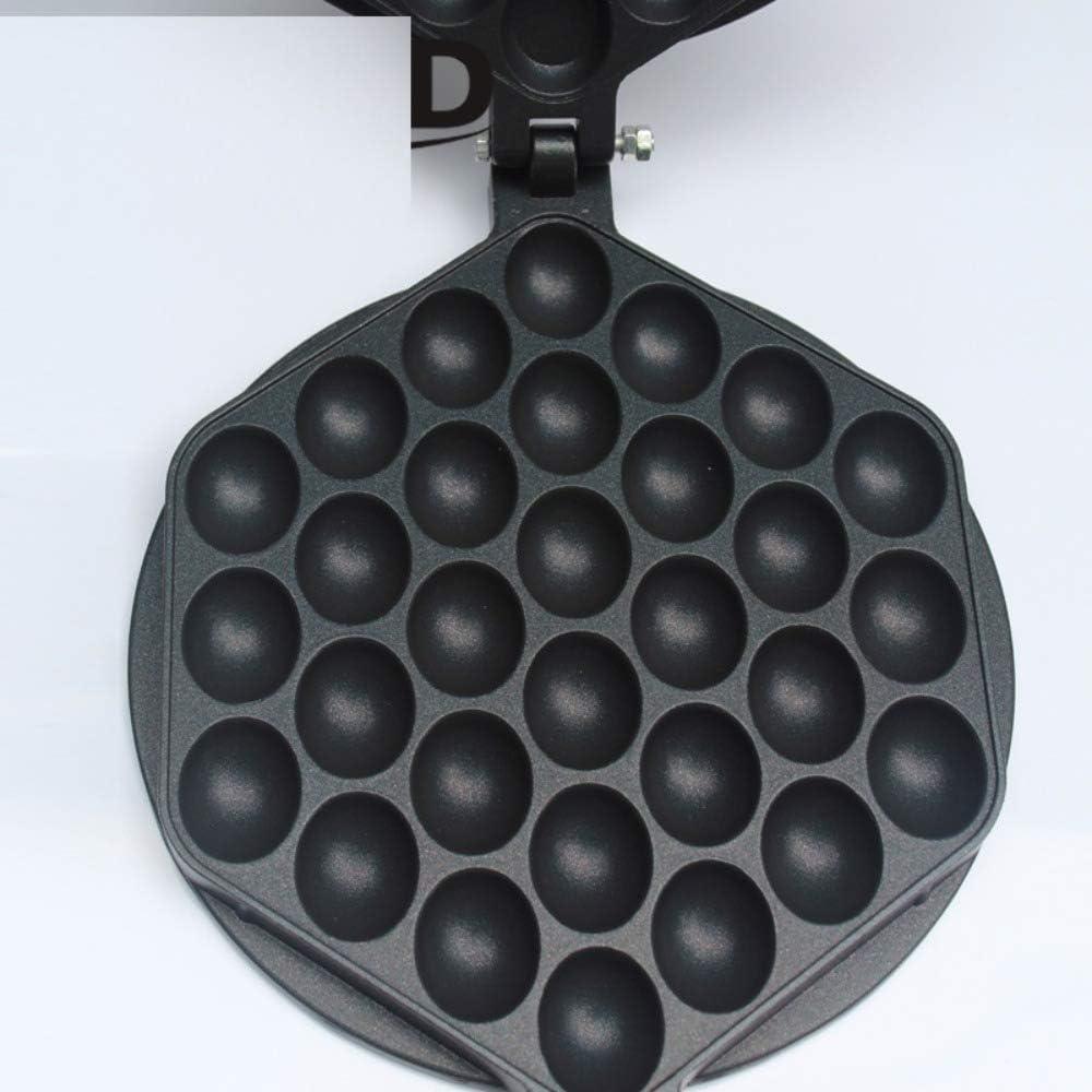 Chirs offer 110V / 220V Eléctrico Bubble Egg Waffle Maker Eggettes Puff Cake Iron Hongkong Egg Muffin Machine Horno Placa Antiadherente ENCHUFE UE 220V
