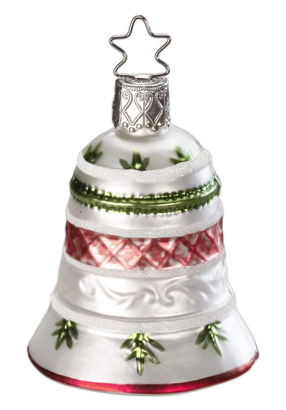 Inge Glas Antique Bell 1-110-14 German Blown Glass Christmas Ornament
