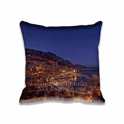 Amazon.com: Monte Carlo luces de noche funda de almohada ...