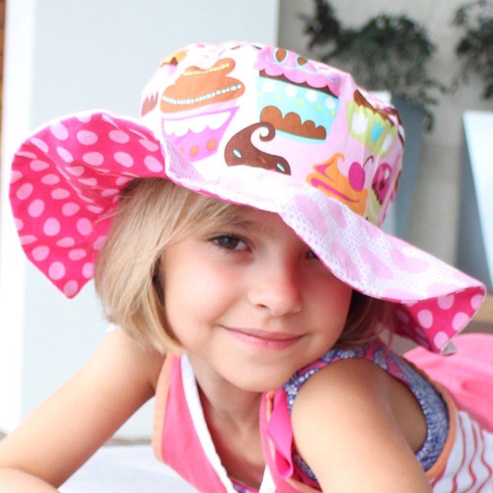 369daaab87b Amazon.com  Sun Hat with cute polka dots for girls