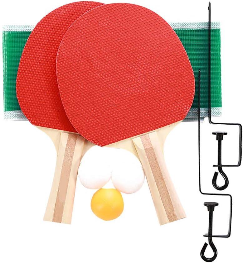 Comie Pingpong Set de pelotas, tenis de mesa, juegos de interior, red de ping pong portátil retractable, juego de máquina de entrenamiento, tenis, descompresión de tenis, juego de interior y exterior