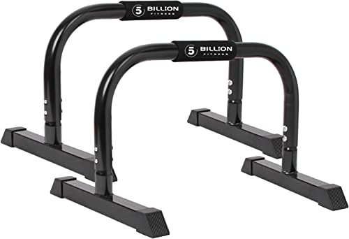 5BILLION XL Push Up Stands Parallettes Dip Bars with Non-Slip Foam Handle Rubber Feet Workout for Handstand Muscle Ups Push Ups Home Gym Training