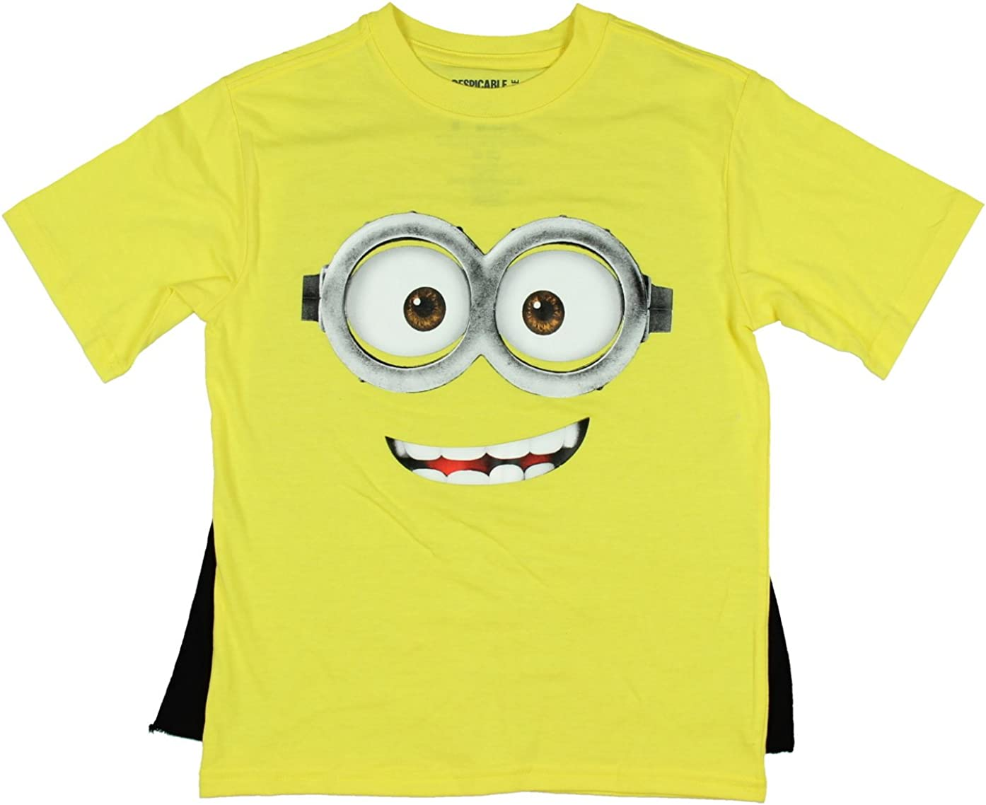Despicable Me Minion Smile Graphic Shirt with Cape Large 10//12
