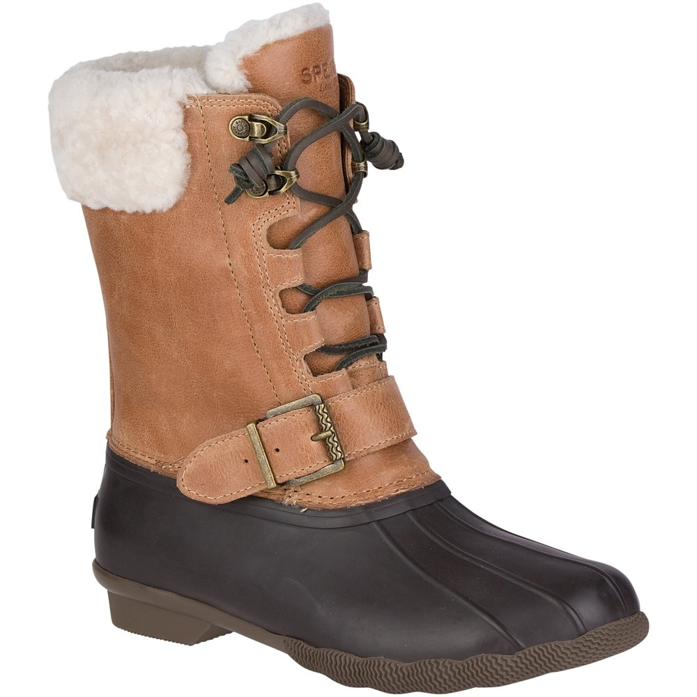 Sperry Top-Sider Women's Saltwater Misty Thinsulate Rain Boot, Brown/Natural, 7 Medium US