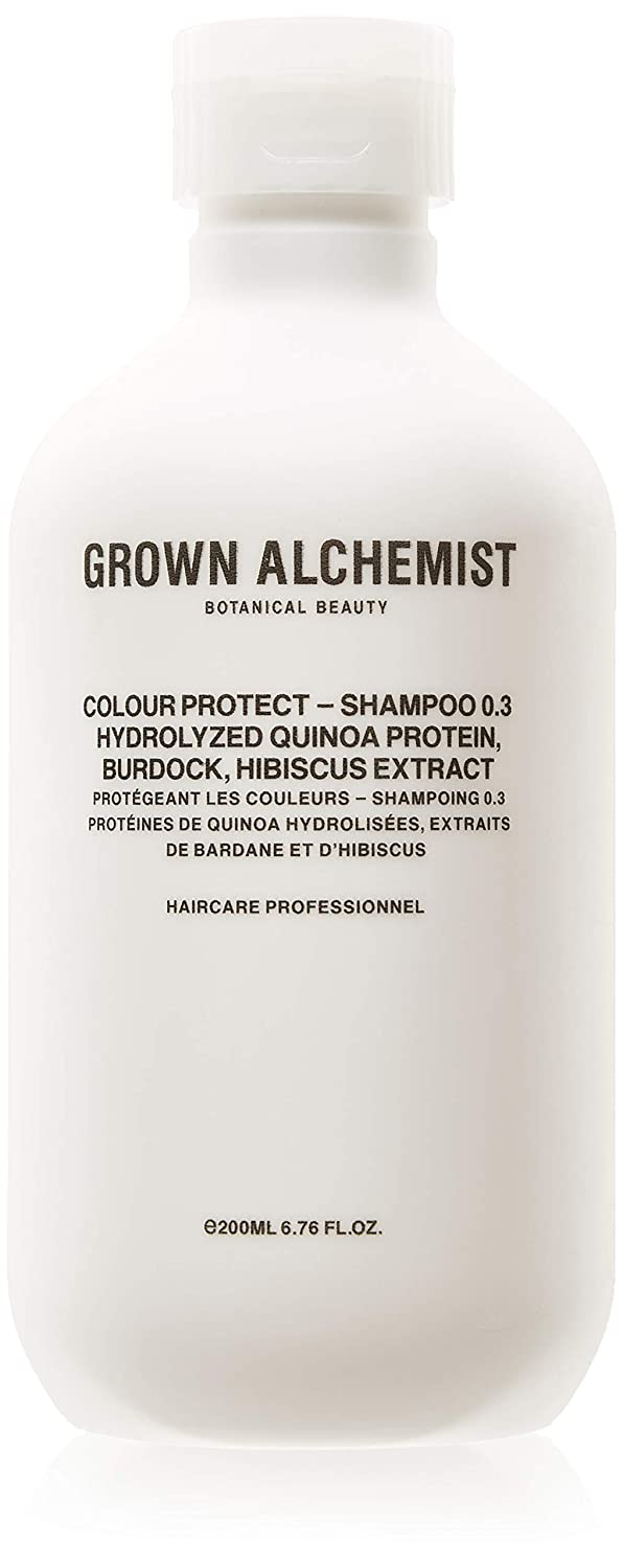 Grown Alchemist Colour Protect Shampoo 0.3, Hydrolyzed Quinoa Protein, Burdock, Hibiscus 200ml, 1 Count